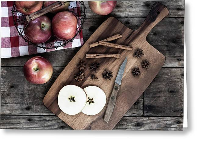 Greeting Card featuring the photograph Apples And Cinnamon  by Kim Hojnacki