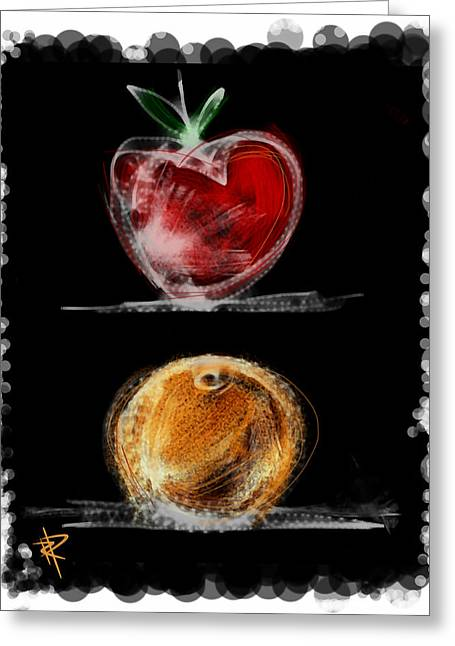 Food Digital Art Greeting Cards - Apples and Oranges Greeting Card by Russell Pierce
