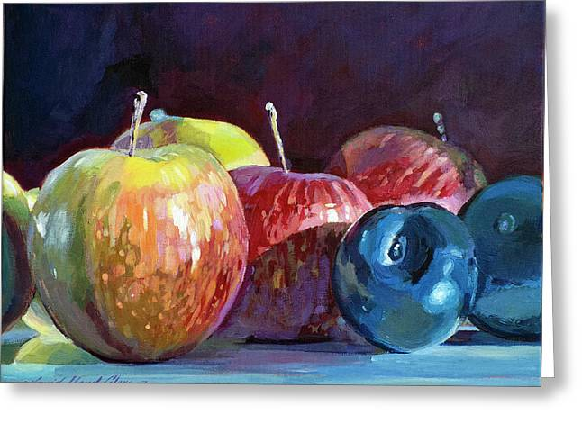 Apples And Plums  Greeting Card