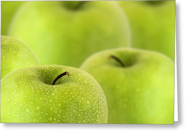 Apples Greeting Card by D Plinth
