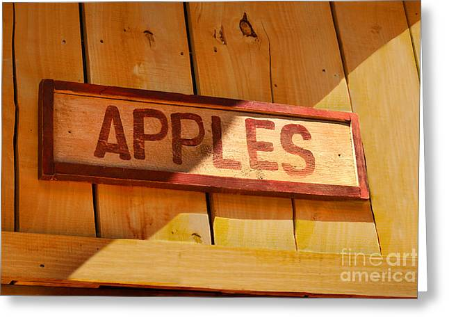 Apples For Sale Greeting Card