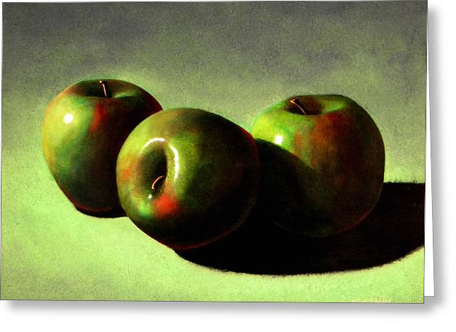Frank Wilson Greeting Cards - Apples Greeting Card by Frank Wilson