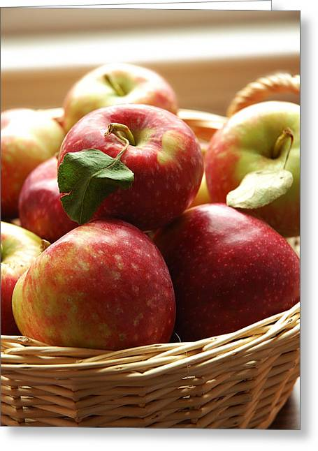 Orchard Greeting Cards - Apples Greeting Card by HD Connelly