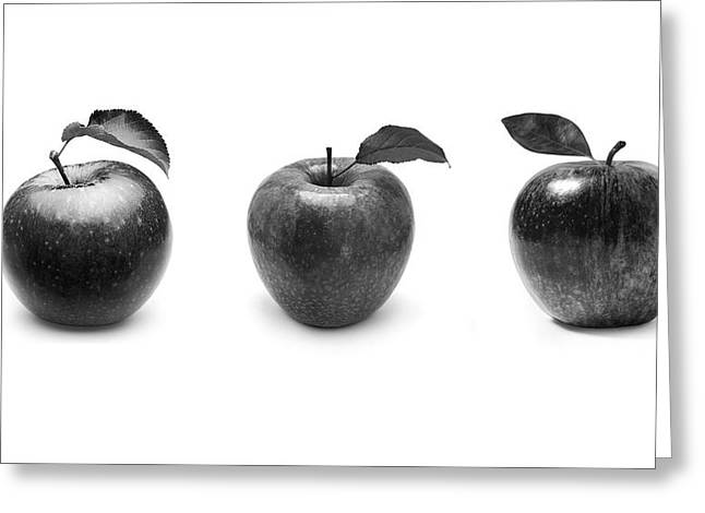 Apples In Black And White Greeting Card