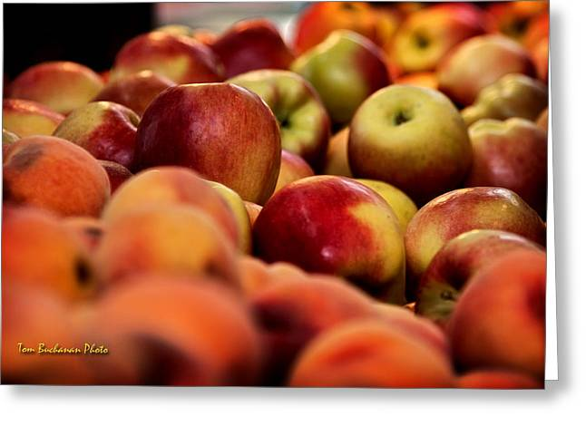 Apples In The Market Greeting Card