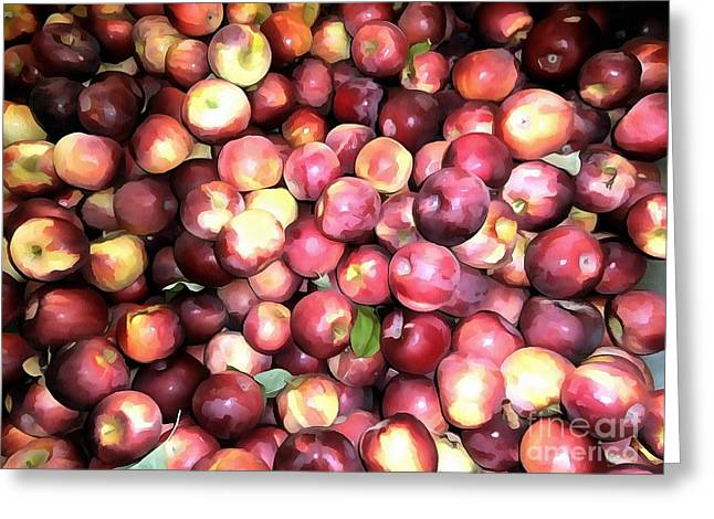 Apples Greeting Card by Janine Riley