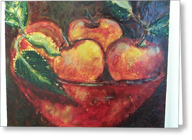 Apples Greeting Card by Karla Phlypo-Price