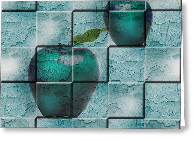 Greeting Card featuring the digital art Apples by Katy Breen