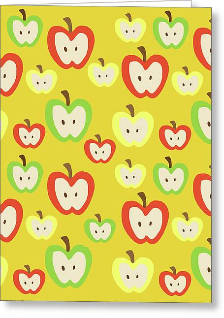 Apples Greeting Card by Nicole Wilson