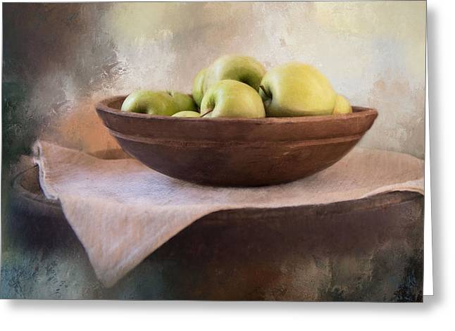 Greeting Card featuring the photograph Apples by Robin-Lee Vieira