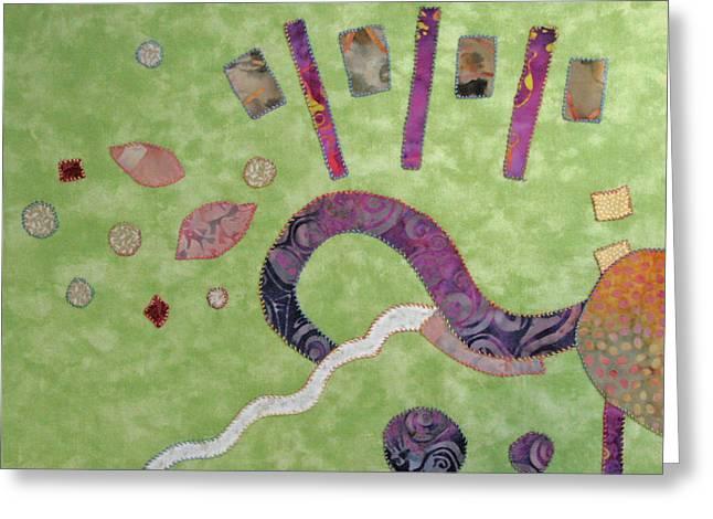 Applique Greeting Cards - Applique 1 Greeting Card by Eileen Hale