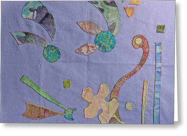 Applique 3 Greeting Card by Eileen Hale