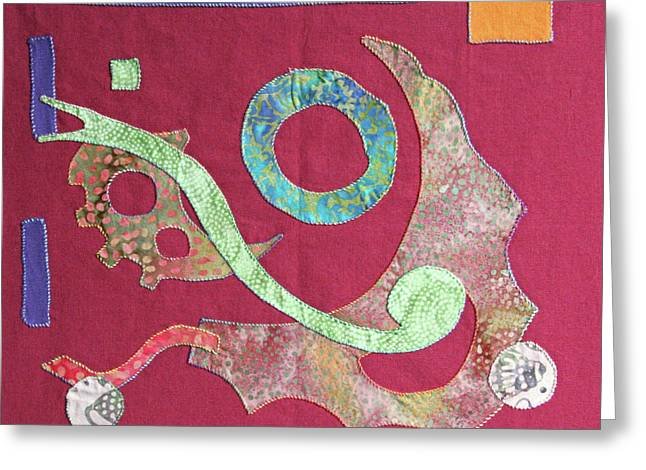 Applique 6 Greeting Card by Eileen Hale