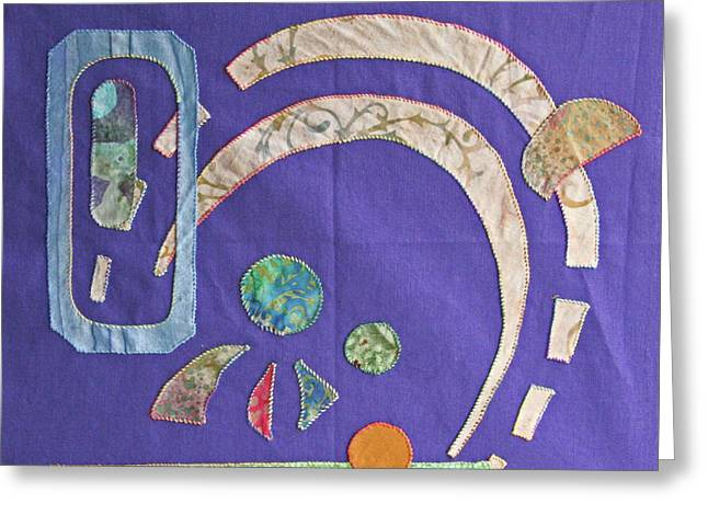 Applique 8 Greeting Card by Eileen Hale