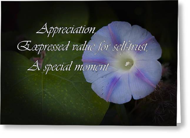 Appreciation Greeting Card by Elliptical Art