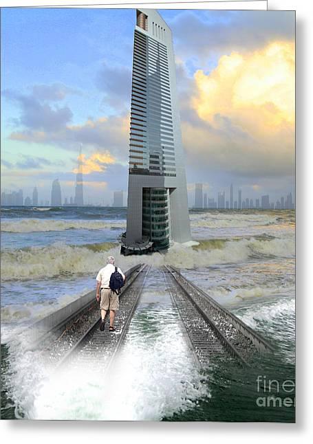 Approach To Dubai Greeting Card by Ayesha DeLorenzo