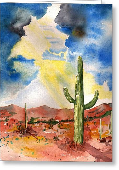 Approaching Monsoon Greeting Card by Sharon Mick