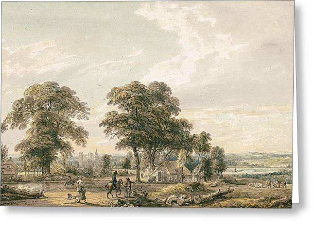 Approaching Rochester And The Medway Greeting Card by Paul Sandby