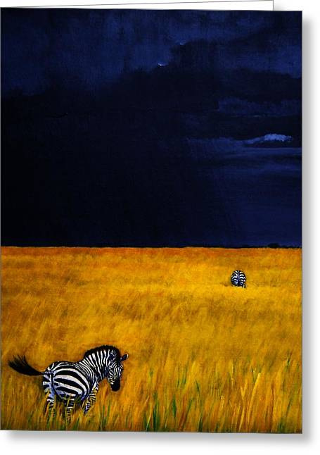 Approaching Storm Greeting Card by Edith Peterson-Watson
