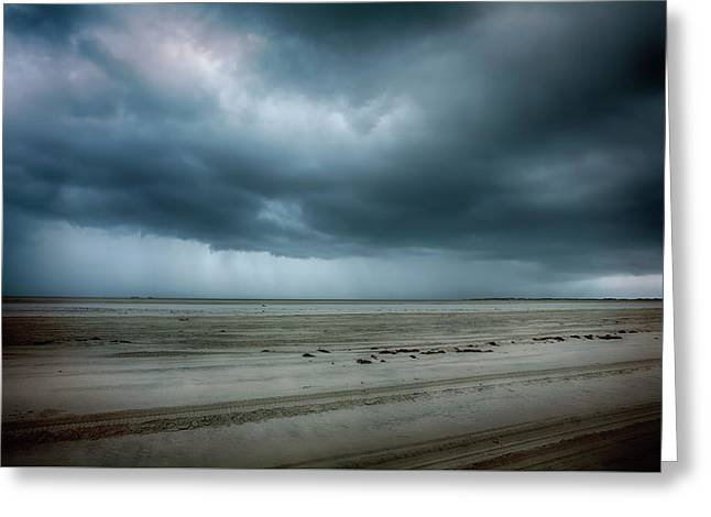 Approaching Storm On Ocracoke Outer Banks Greeting Card