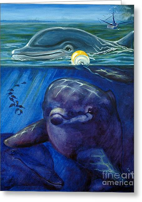 Greeting Card featuring the painting Approaching Storm by Suzanne McKee