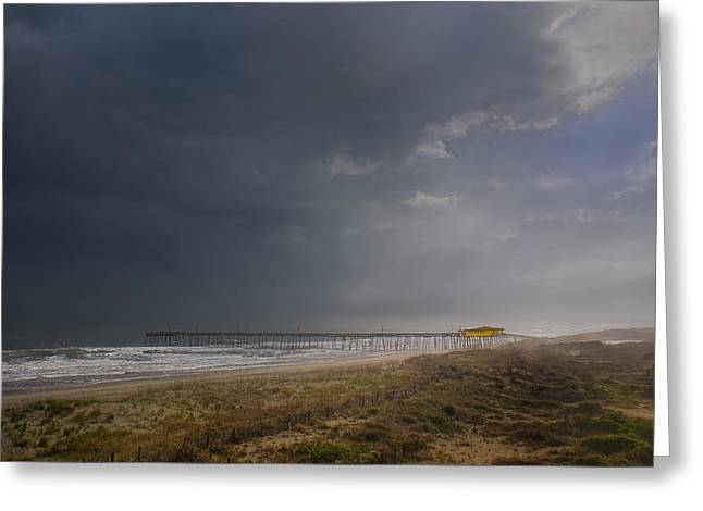 Approaching Thunderstorm Greeting Card by Andreas Freund