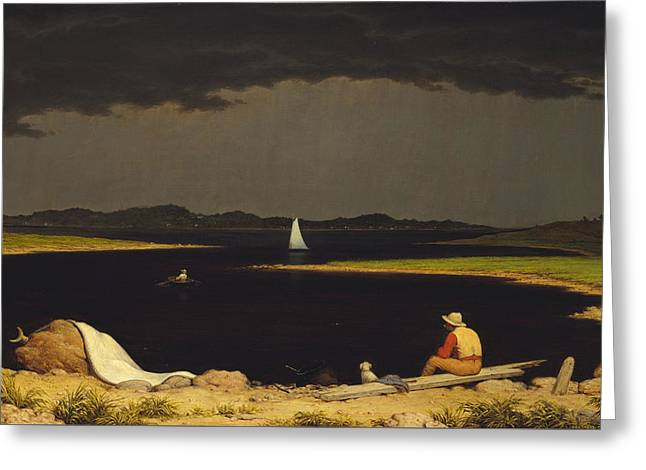 Approaching Thunderstorm Greeting Card by Martin Johnson Heade