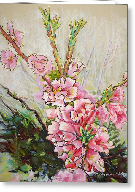 Apricot Energy Greeting Card by Carole Haslock