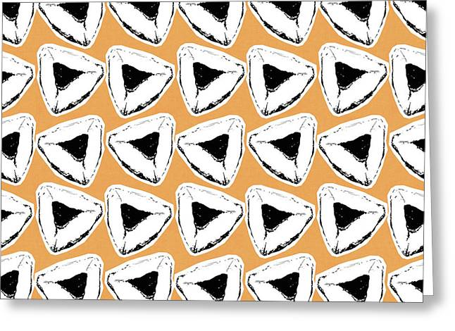 Apricot Hamentashen- Art By Linda Woods Greeting Card by Linda Woods