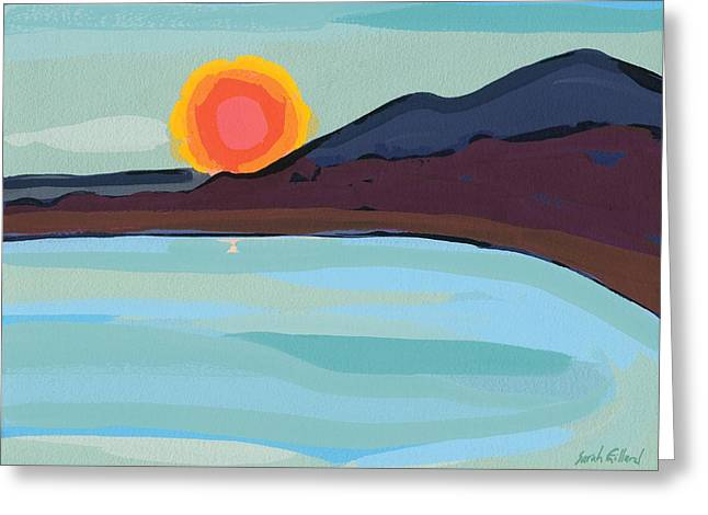 Apricot Sun Greeting Card by Sarah Gillard
