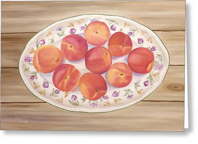 Apricots Greeting Card by Angeles M Pomata
