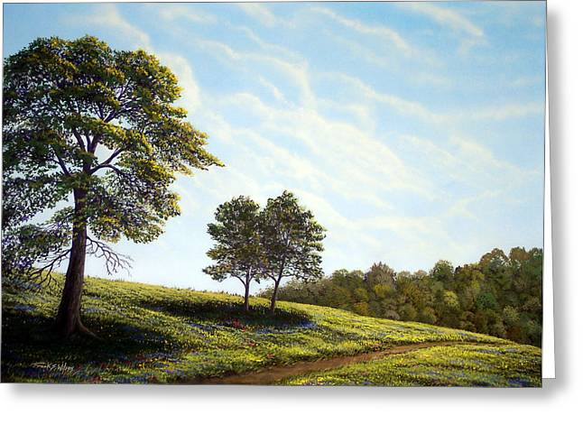 April Afternoon Greeting Card by Frank Wilson