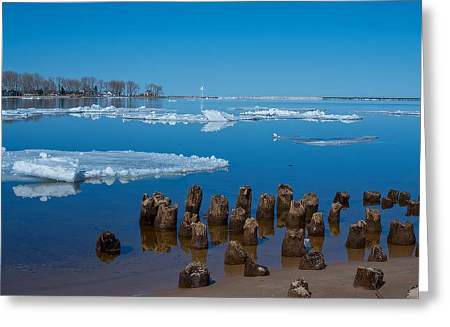 April Ice Greeting Card