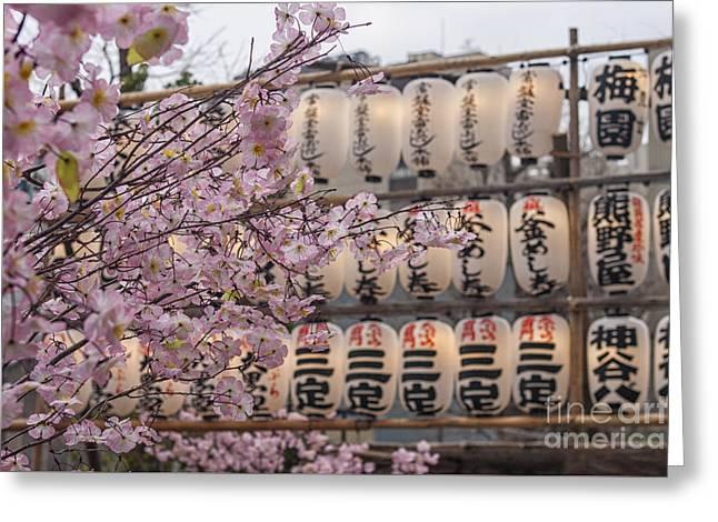 April In Tokyo Greeting Card by Patricia Hofmeester