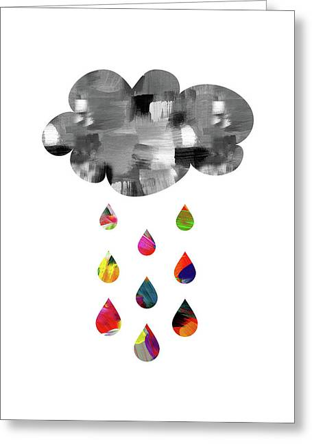Greeting Card featuring the mixed media April Showers- Art By Linda Woods by Linda Woods