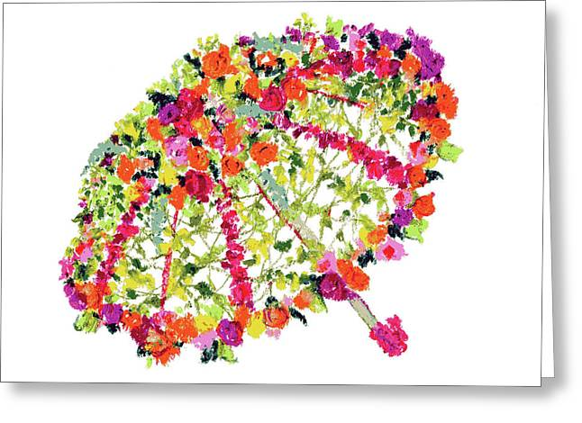 April Showers Bring May Flowers Greeting Card