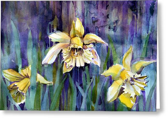 April Showers Greeting Cards - April Showers Greeting Card by Mindy Newman