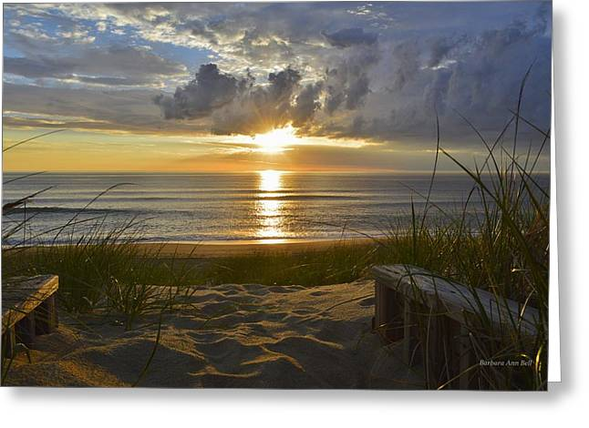 April Sunrise In Nags Head Greeting Card