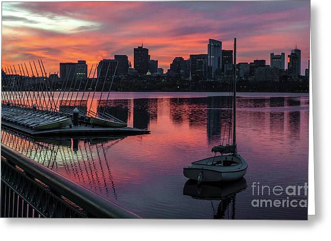 April Sunrise Greeting Card by Mike Ste Marie