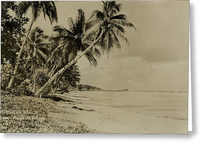 Apurguan Beach Guam Marianas Islands Greeting Card