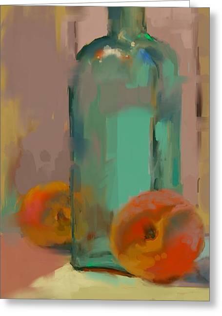 Aqua Bottle Greeting Card