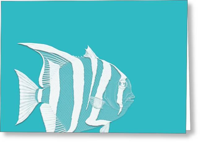 Aqua Fish  Greeting Card by Bonnie Bruno