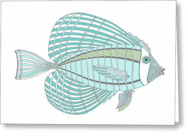 Aqua Fish Greeting Card