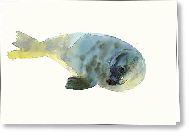 Aqua Green Greeting Card by Mark Adlington