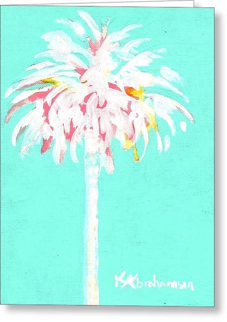 Aqua Marine Palm Greeting Card