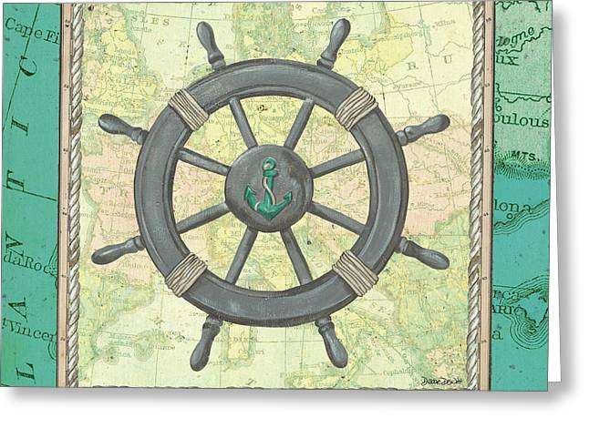 Aqua Maritime Greeting Card