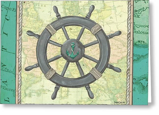 Aqua Maritime Greeting Card