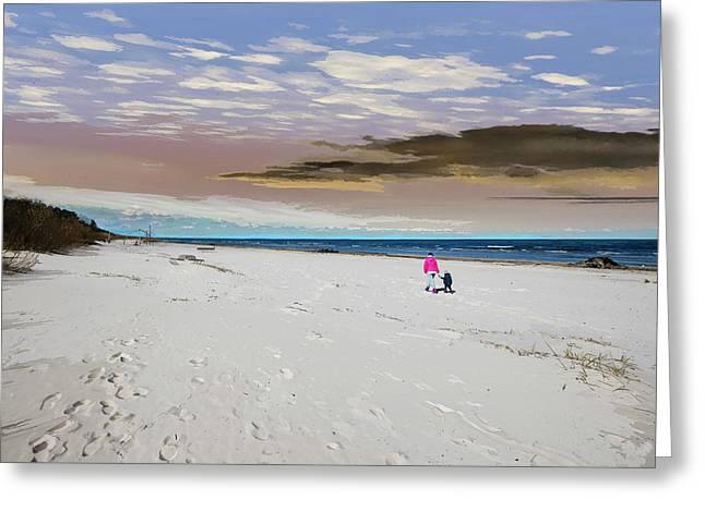 Aqua - On The Beach Greeting Card