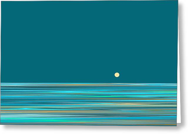 Greeting Card featuring the digital art Aqua Sea by Val Arie