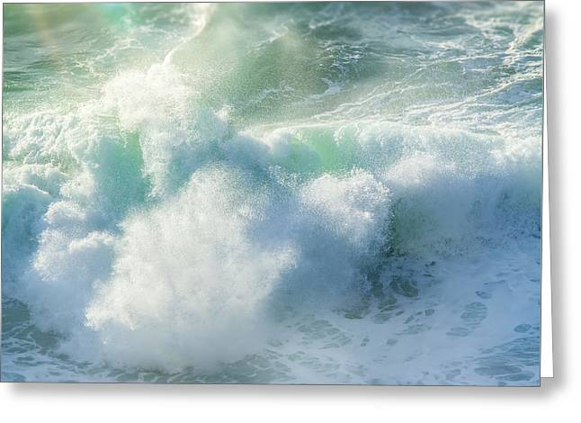 Aqua Surge Greeting Card